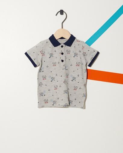 Poloshirt mit durchgehendem Print